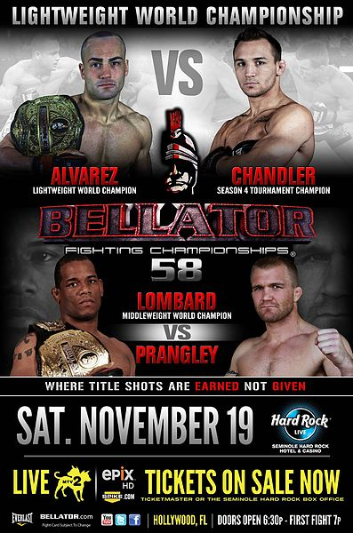Video Bellator 58 : Michael Chandler vs. Eddie Alvarez - incontro completo 1