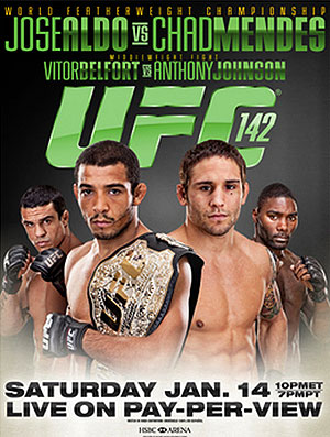 UFC 142 in Rio: Aldo vs Mendes 1
