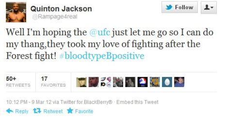 Rampage vuole andarsene dall'UFC 2