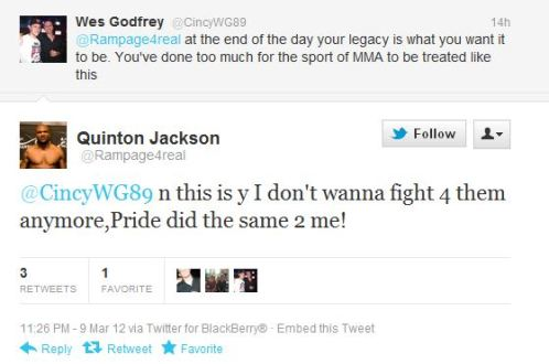 Rampage vuole andarsene dall'UFC 3