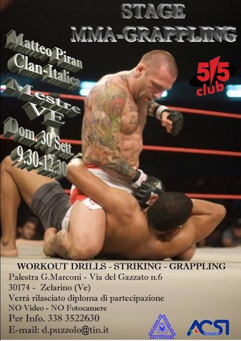 <b>30 SETTEMBRE 2012 </b> - Seminario di MMA & Grappling con Matteo Piran a Mestre 1
