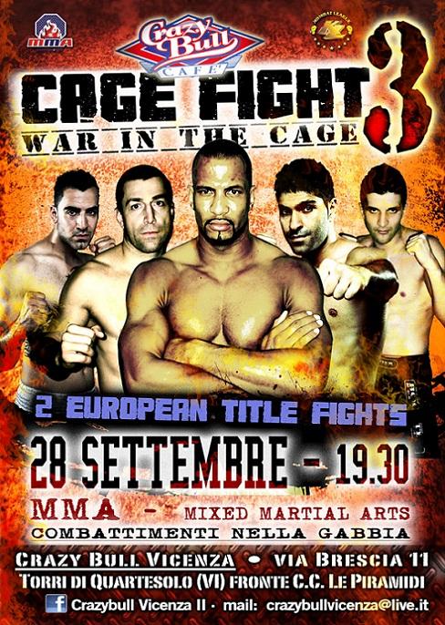 28 Settembre - Cage Fight 3 - MMA a Vicenza 1