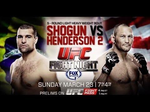 UFC Fight Night 38- Shogun vs. Henderson 2