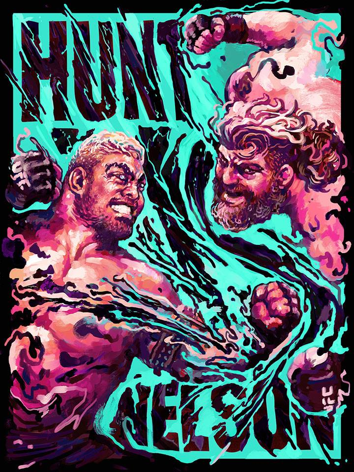 Mark-hunt-Roy-Nelson-artwork- Gian-Galang
