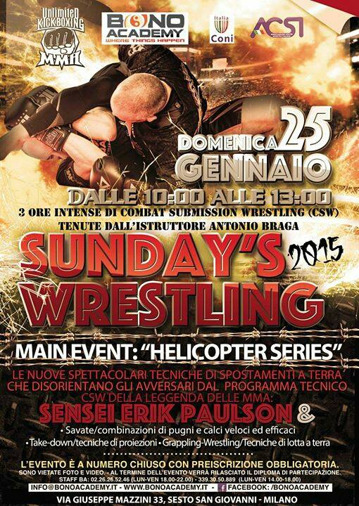 25 Gennaio a Milano - Sunday Wrestling 1