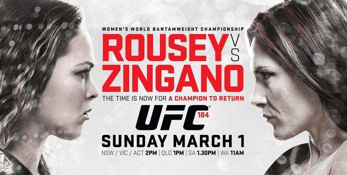 Risultati UFC 184 Rousey vs. Zingano