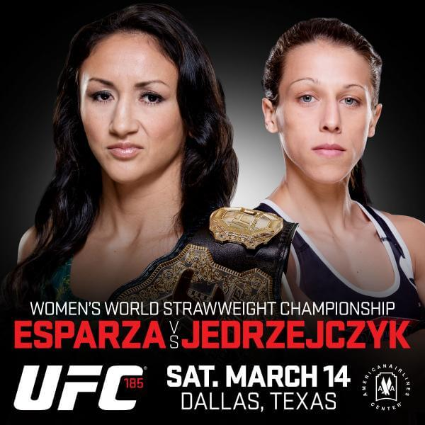 UFC 185: la sfida per il Titolo tra Joanna Jedrzejczyk e Carla Esparza. 1