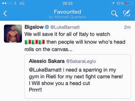 Luke Barnatt vs Italia
