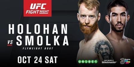 Risultati UFC Dublino 2015 / UFC Fight Night 76: Holohan vs. Smolka 1