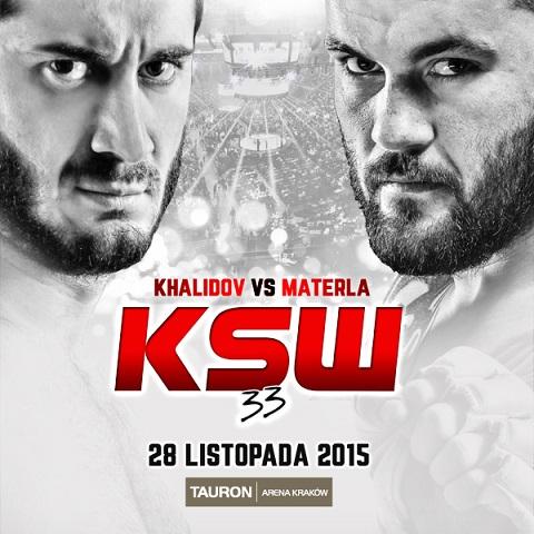 28 Novembre 2015.Mamed Khalidov vs Michal Materla nel Main-event di KSW 33 1