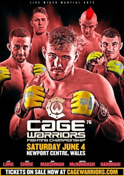 Risultati Cage Warriors 76: Jack Marshman vince per submission contro Ali Arish 1