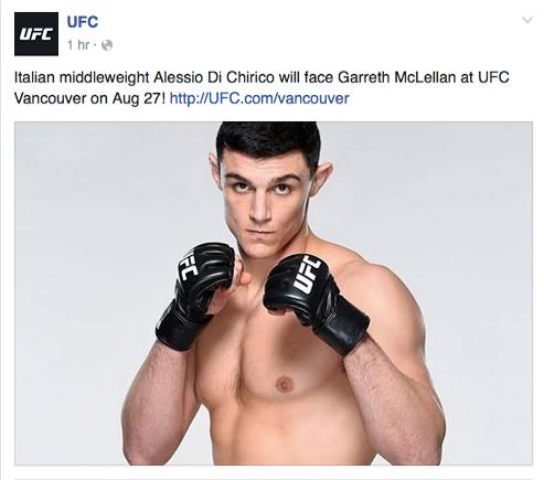 Di chirico UFC Canada