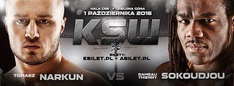 KSW 36: Narkun difenderà il Titolo dei Pesi Massimi Leggeri contro Sokoudjou. 1