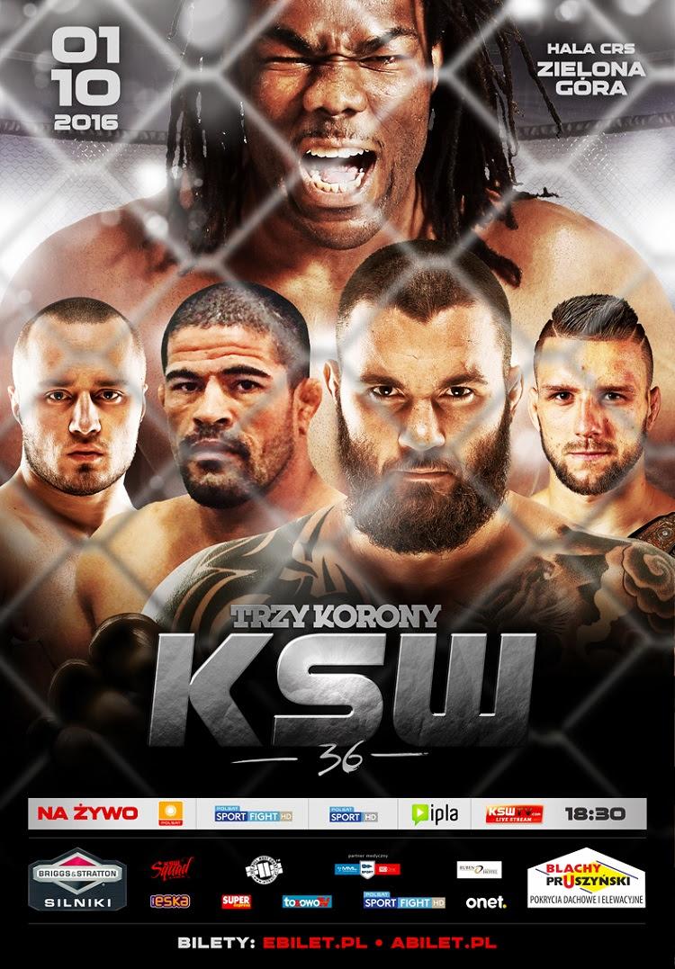 Fight-card ufficiale e presentazione di KSW 36 1