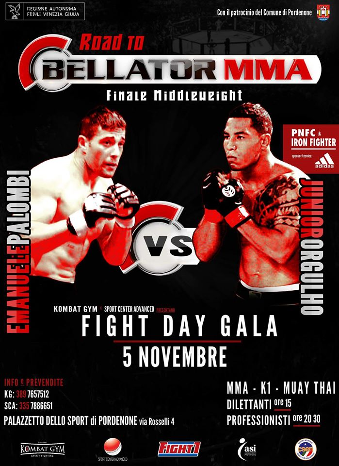 PALOMBI VS ORGULHO AL FIGHT DAY GALA PER VOLARE A BELLATOR USA 1