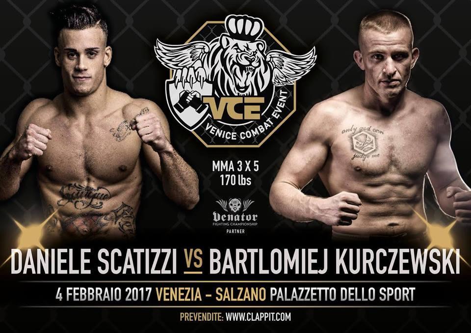Main-event di Venice Combat Event: Daniele Scatizzi vs Bartlomiej Kurczewski 1