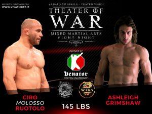 """""""Theater of War"""": risultati alla cerimonia del peso 8"""