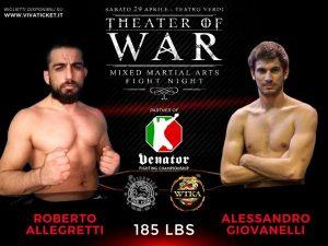 """""""Theater of War"""": risultati alla cerimonia del peso 11"""