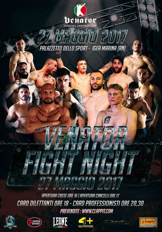 Venator Fight Night Rimini - Card completa 1