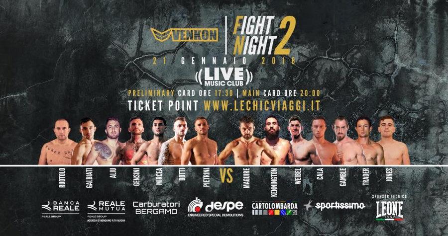 Venkon Fight Night 2 - ecco la card 1