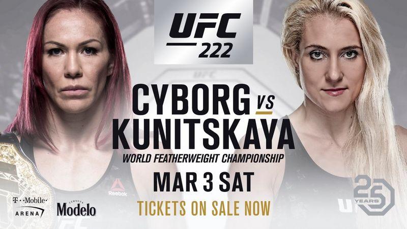RISULTATI UFC 222 - CYBORG VS KUNITSKAYA 1