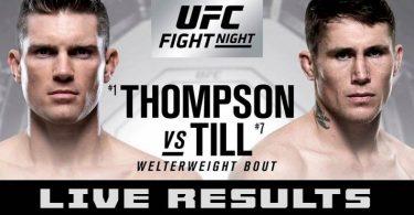 RISULTATI UFC FIGHT NIGHT LIVERPOOL - TILL VS THOMPSON + CARLO PEDERSOLI 10