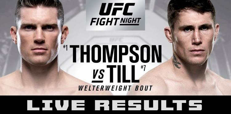 RISULTATI UFC FIGHT NIGHT LIVERPOOL - TILL VS THOMPSON + CARLO PEDERSOLI 1
