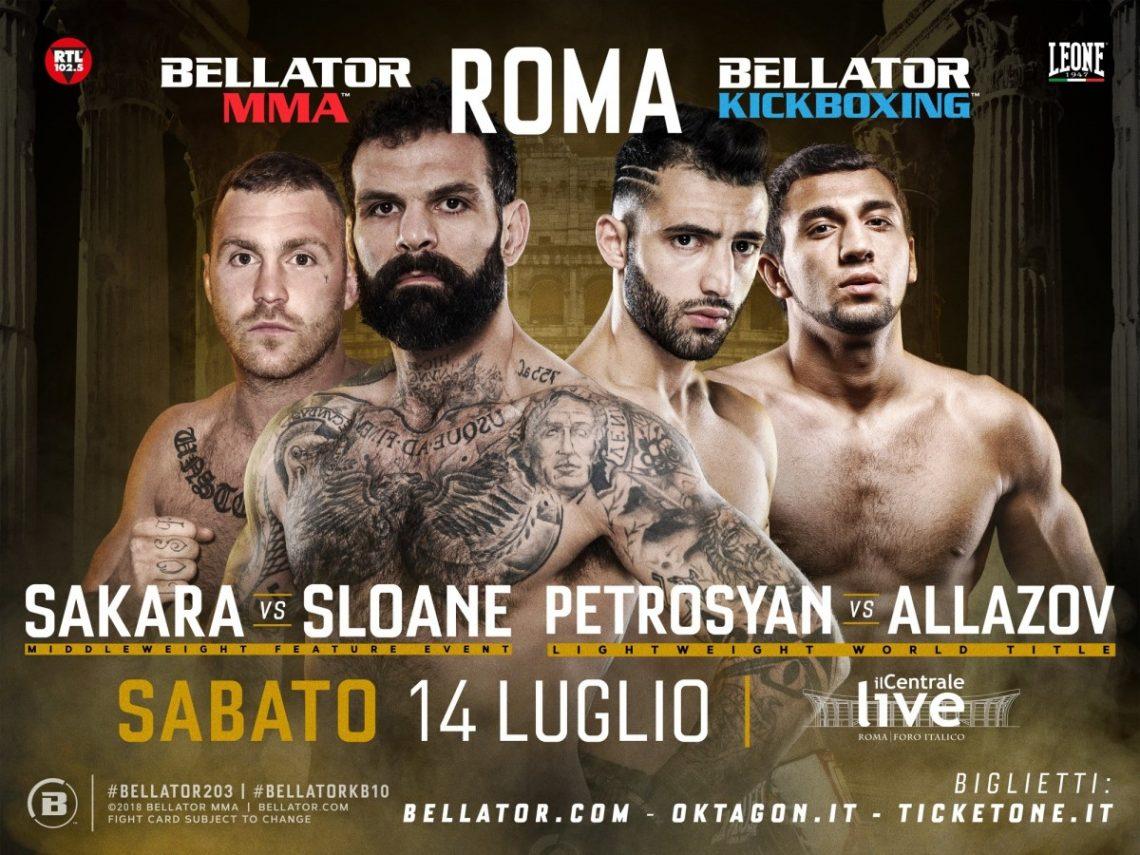 Risultati Bellator Roma 2018 (Alessio Sakara e Giorgio Petrosyan) 1