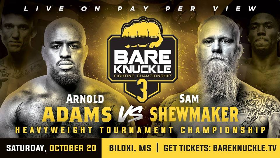 BARE KNUCKLE BOXING FIGHTING CHAMPIONSHIP 3: Adams vs Shewmaker 1
