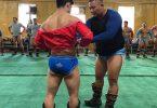 L'oro olimpico 2016 Shohei Ono si allena con la Lotta Mongola 1