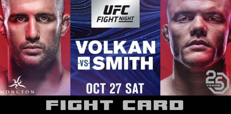 UFC FIGHT NIGHT: VOLKAN VS SMITH 1