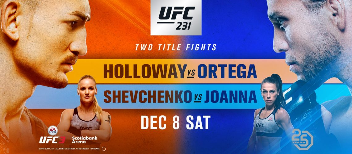 UFC 231 : HOLLOWAY VS ORTEGA 1
