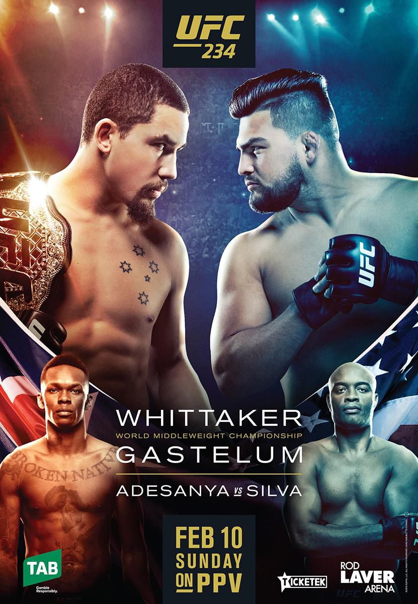UFC 234 : WHITTAKER VS GASTELUM 1