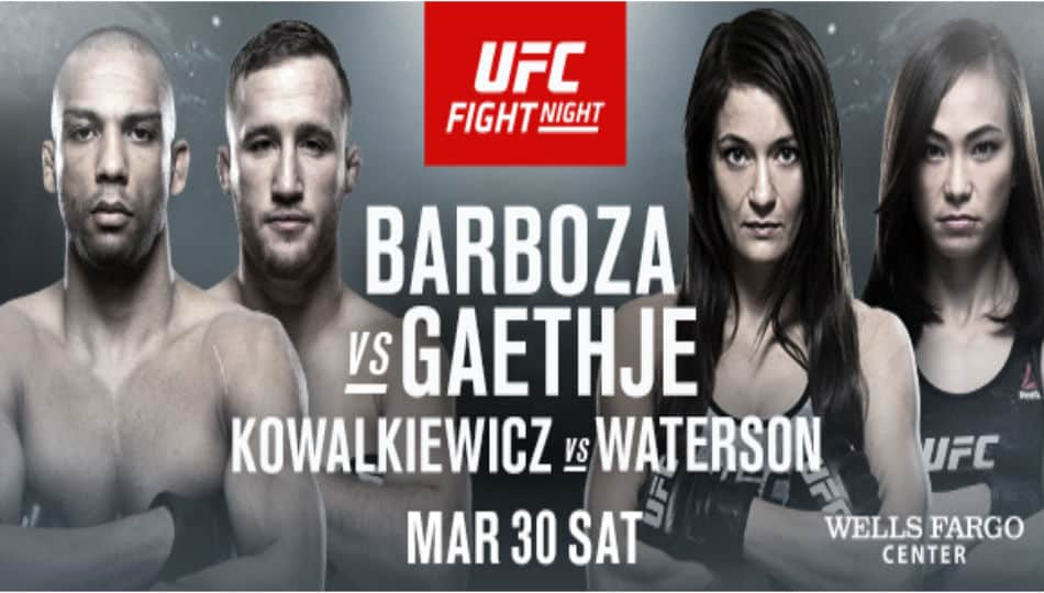 UFCON ESPN 2: BARBOZA VS GAETHJE 1