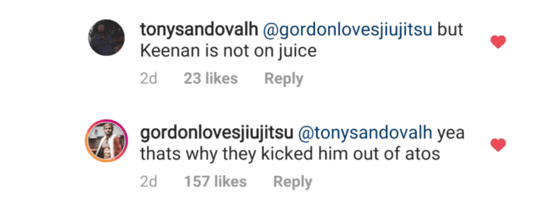 Keenan fuori dall'Atos, Ryan Gordon trolla un po'. 2