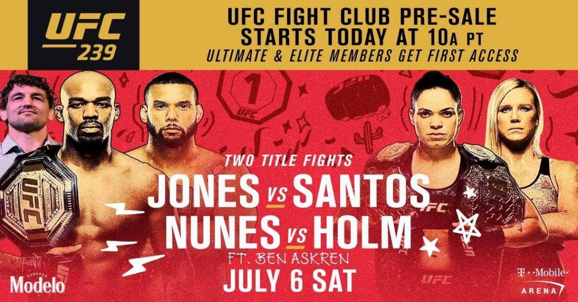 UFC 239: JONES VS. SANTOS 1