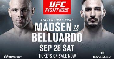 Danilo Belluardo aggiunto alla card UFC Copenhagen 13