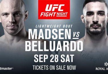 Danilo Belluardo aggiunto alla card UFC Copenhagen 2
