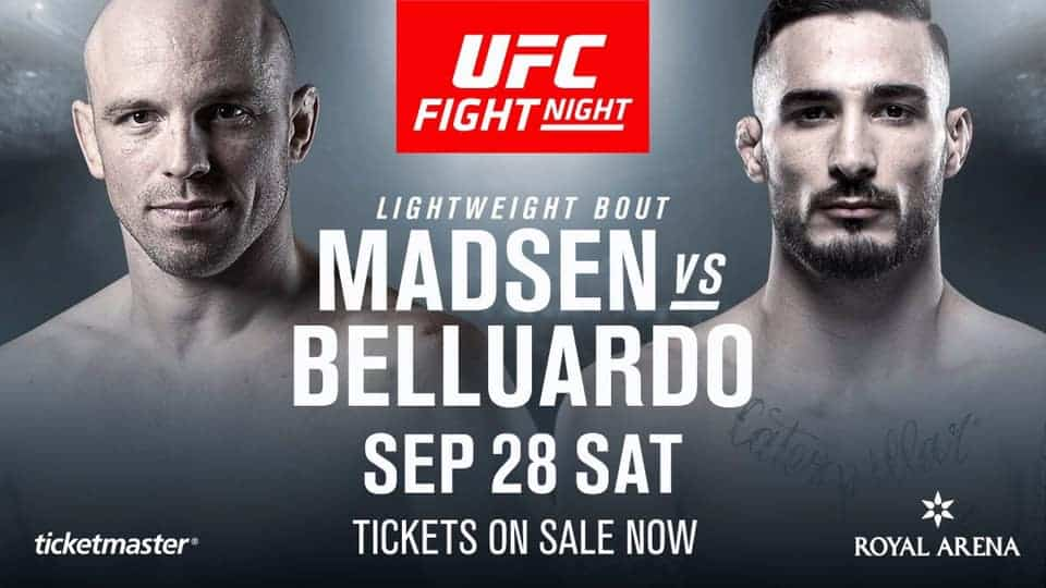 Danilo Belluardo aggiunto alla card UFC Copenhagen 1