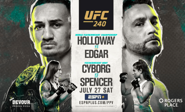 UFC 240: HOLLOWAY VS. EDGAR 1