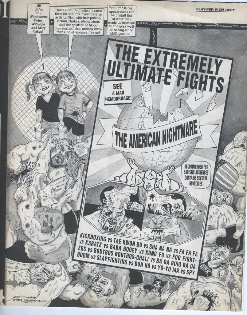 l'UFC anni 90 visto da MAD Magazine 2