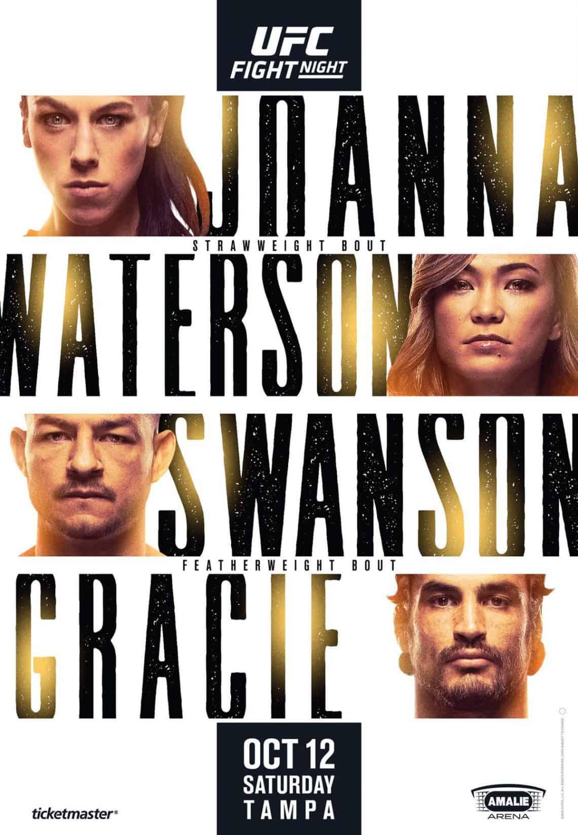 UFC Tampa 2019: Jedrzejczyk vs. Waterson 1