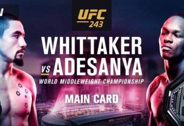 Risultati UFC 243: Whittaker vs. Adesanya 6