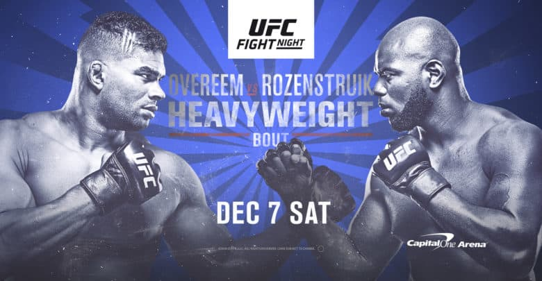 UFC Fight Night Washington 2019 - Overeem vs RozenStruik 1