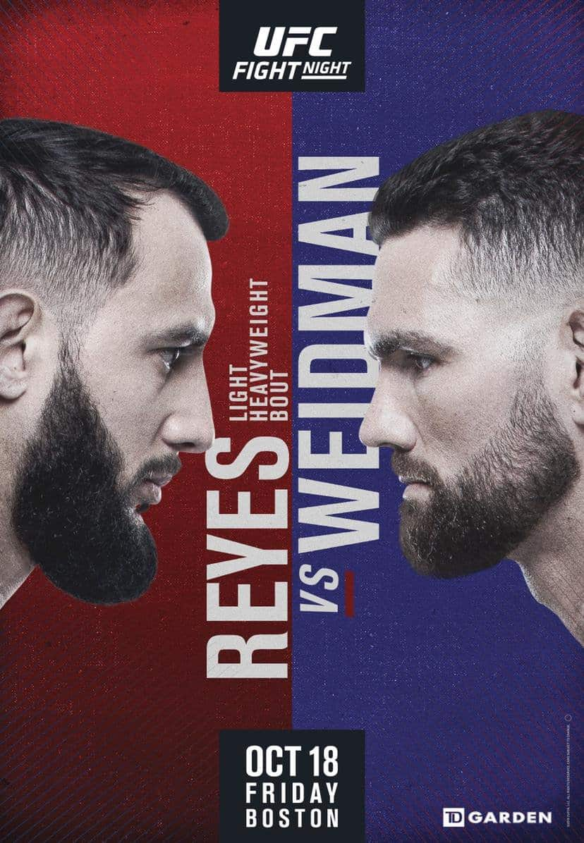 Risultati UFC on ESPN: Reyes vs. Weidman 8