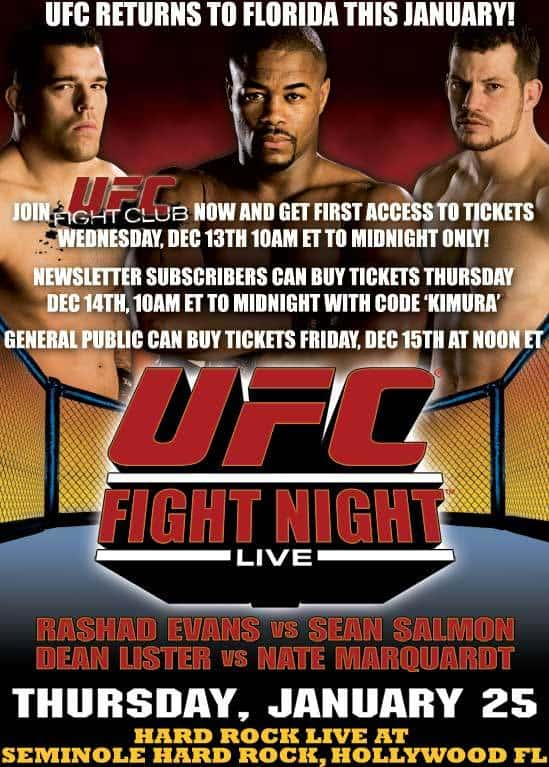 UFC Fight Night: Evans vs. Salmon 1