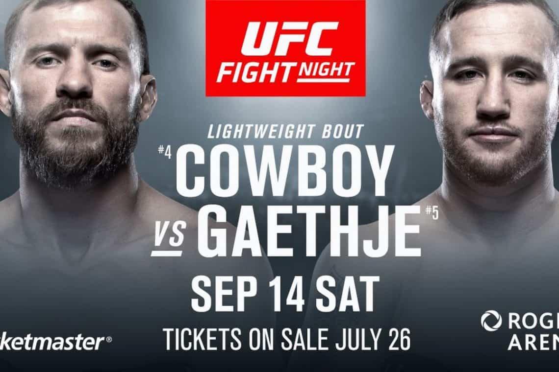 UFC Fight Night: Cowboy vs. Gaethje 1
