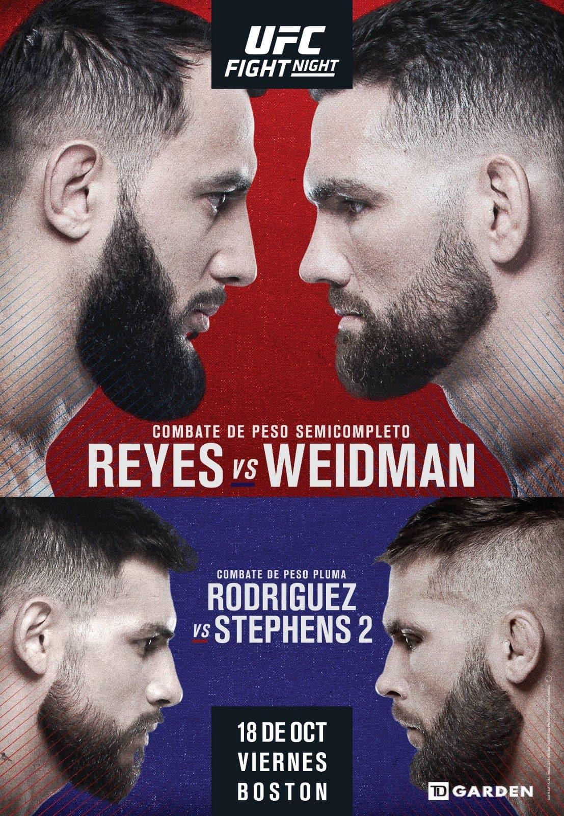 UFC on ESPN: Reyes vs. Weidman 1