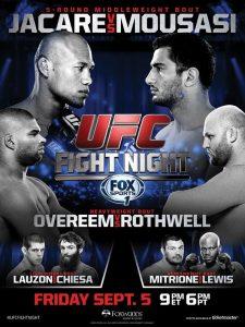 UFC Fight Night: Jacaré vs. Mousasi 2