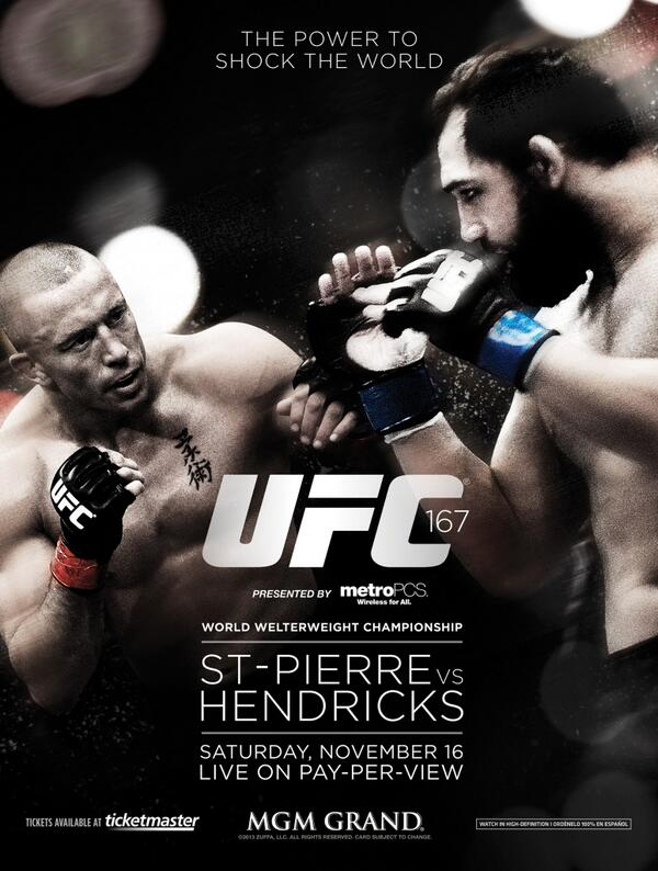 UFC 167: St-Pierre vs. Hendricks 1